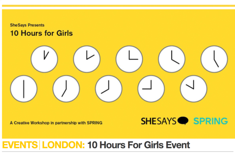 10 hours for girls with SheSays